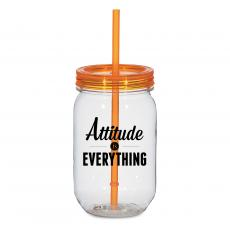 Closeout and Sale Center - Attitude Is Everything 25oz Mason Jar