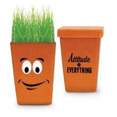 Desktop Motivation - Attitude Is Everything Happy Planter