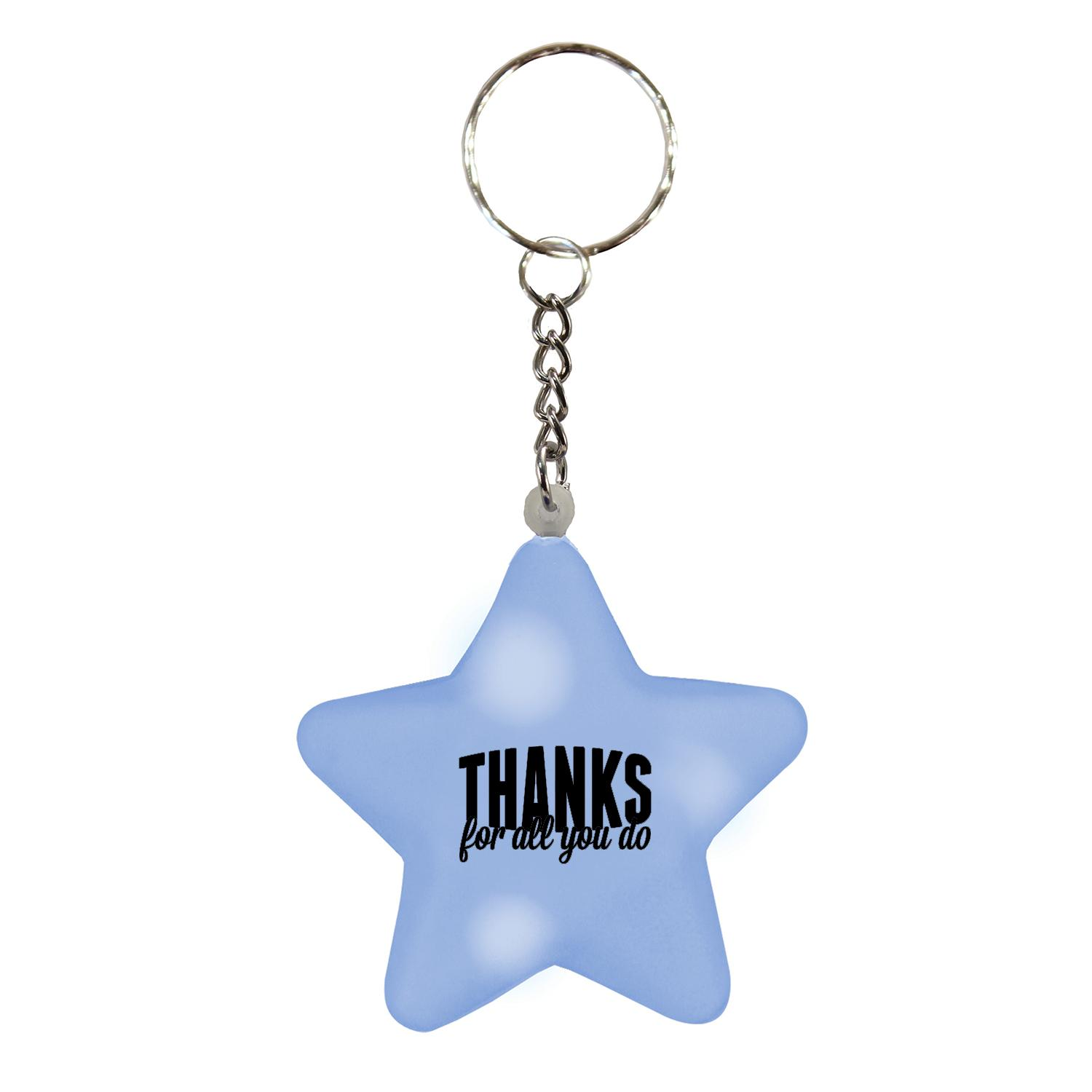 Thanks for All You Do Star Keychain