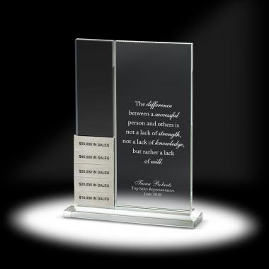 Rectangulum Perpetual Recognition Crystal Award