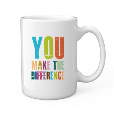 You Make The Difference 15oz Ceramic Mug
