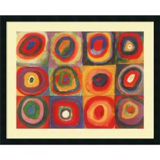 All Motivational Posters - Wassily Kandinsky Farbstudie Quadrate, 1913 Office Art