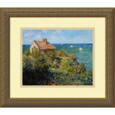 All Motivational Posters - Claude Monet Fisherman's Cottage on the Cliffs at Varengeville, 1882 Office Art