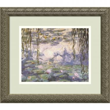 Claude Monet Water Lilies and Willow Branches Office Art