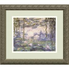 Claude Monet - Claude Monet Water Lilies and Willow Branches Office Art