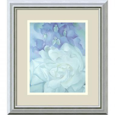 Georgia O'Keeffe White Rose with Larkspur No.2 Office Art