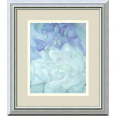 Flowers & Plants - Georgia O'Keeffe White Rose with Larkspur No.2 Office Art