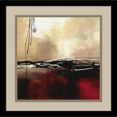 Abstract - Laurie Maitland Symphony in Red and Khaki I Office Art