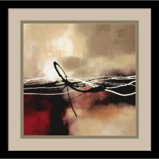 Fine Art - Laurie Maitland Symphony in Red and Khaki II Office Art