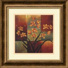 Flowers & Plants - Jill Deveraux Orange Orchid Office Art