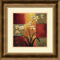 Geometric - Jill Deveraux White Orchid Office Art