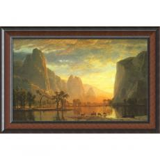 Office Art - Albert Bierstadt Valley of the Yosemite, 1864 Office Art