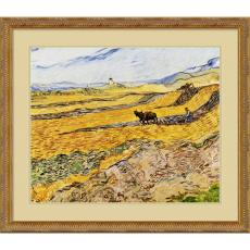 Vincent van Gogh Enclosed Field with Ploughman Office Art