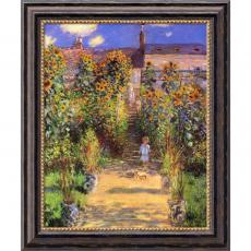 Closeout and Sale Center - Claude Monet The Artist's Garden at Vetheuil, 1880 Office Art