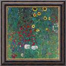 Gustav Klimt Farm Garden with Sunflowers, c. 1906 Office Art