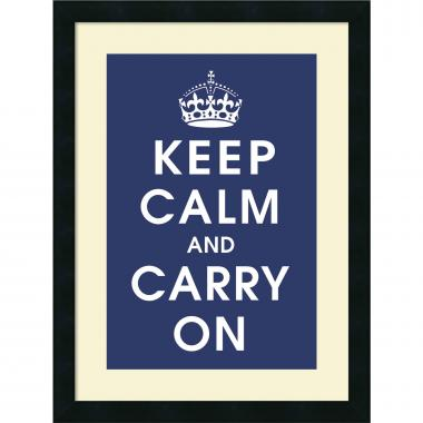 Vintage Repro Keep Calm (navy) Office Art