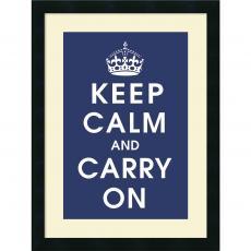 All Motivational Posters - Vintage Repro Keep Calm (navy) Office Art