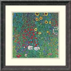 Fine Art - Gustav Klimt Farm Garden with Sunflowers, c. 1906 Office Art