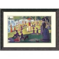 People - Georges Seurat Sunday Afternoon on the Island of La Grande Jatte , 1884-1886 Office Art