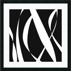 Geometric - Denise Duplock Fistral Nero Blanco III Office Art