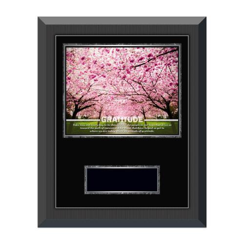 Gratitude Cherry Blossoms Gunmetal Individual Award Plaque