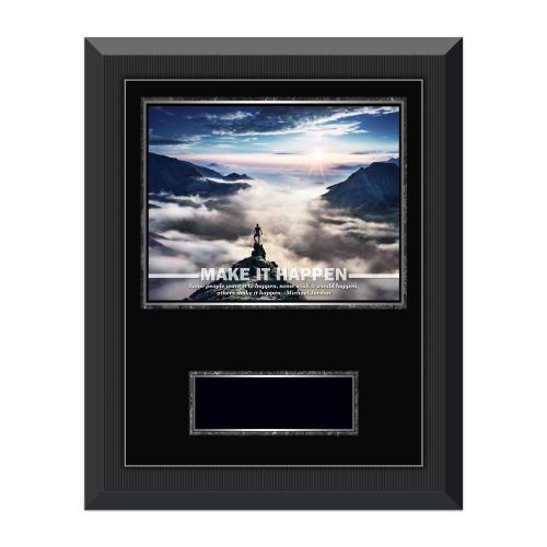 Make It Happen Mountain Gunmetal Individual Award Plaque