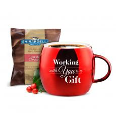 Thank You Gifts - Working With You Sparkling Ornament Mug & Hot Cocoa