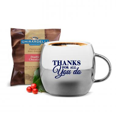 Working With You Sparkling Ornament Mug & Hot Cocoa