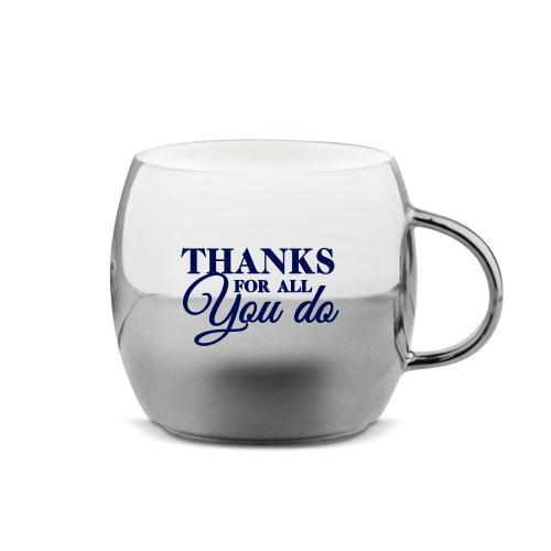 Thanks for All You Do Sparkling Ornament Mug