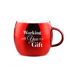 Drinkware - Working With You Sparkling Ornament Mug