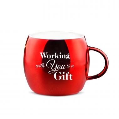 Working With You Sparkling Ornament Mug