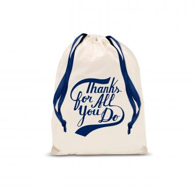 Thanks for All You Do Small Drawstring Gift Bag