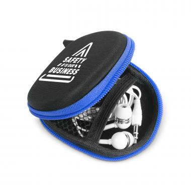 Safety is Our Business Tech Pouch with Earbuds