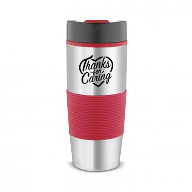 Thanks for Caring 16oz Color Guard Stainless Mug