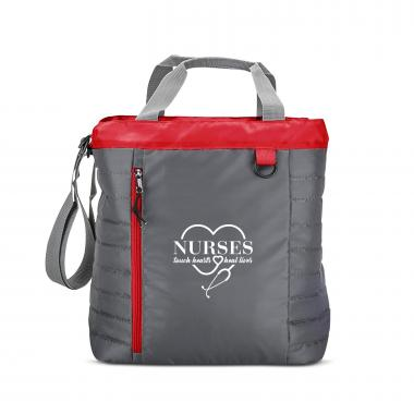 Nurses Touch Hearts Quilted Cooler Tote