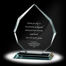 Glass Trophies - Radiant Crystal Award
