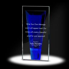 Glass Trophies - Victor Tower Crystal Award