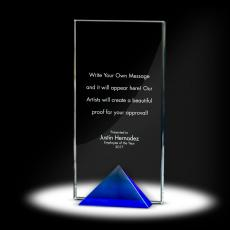 Glass Trophies - Keystone Tower Crystal Award
