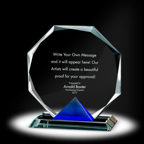 Keystone Octagon Crystal Award