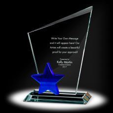 Trophy Awards - Star Torch Crystal Award