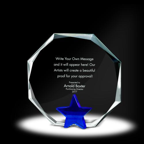 Star Octagon Crystal Award