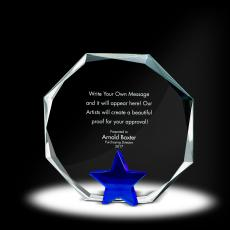 Trophy Awards - Star Octagon Crystal Award