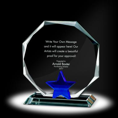 Star Octagon Crystal Award