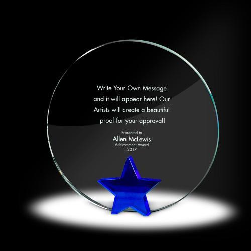 Star Circle Crystal Award