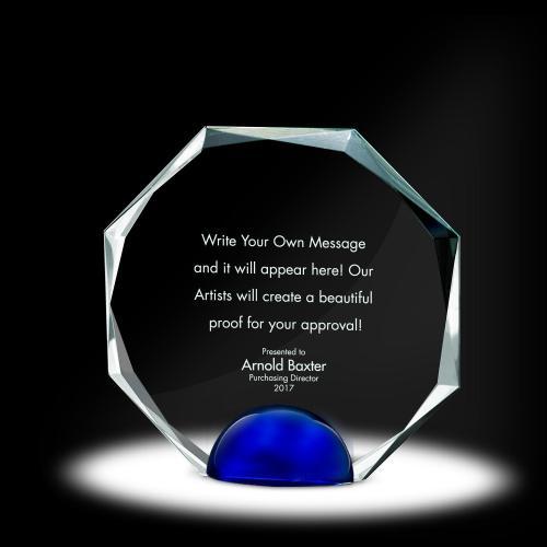 Sphere Octagon Crystal Award