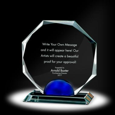 Sphere Octagon Crystal Award