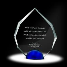Glass Trophies - Sphere Radiant Crystal Award
