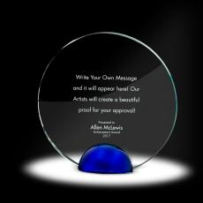 Glass Trophies - Sphere Circle Crystal Award
