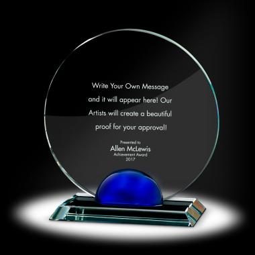 Sphere Circle Crystal Award