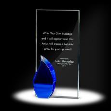 Glass Trophies - Flame Tower Crystal Award